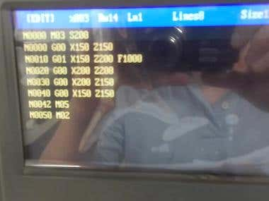 Programing a CNC lathe machine