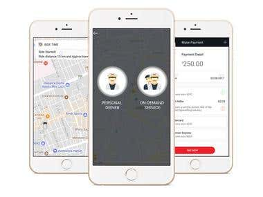 UBER like Driver Booking App