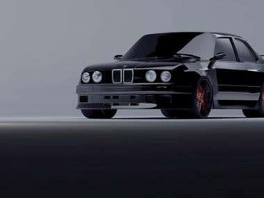3D Modeling [BMW e30]