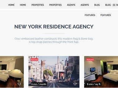 Wordpress website build for WP residence
