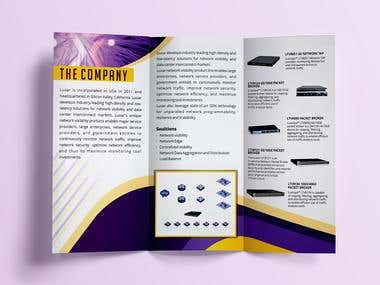 Trifold brochure catelogue