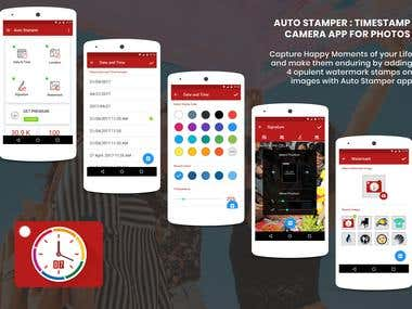 Auto Stamper : Timestamp Camera for Photos
