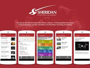 Sheridan Fencing Academy Informative Application for GYM
