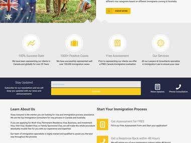 Website for A Visa Consultant