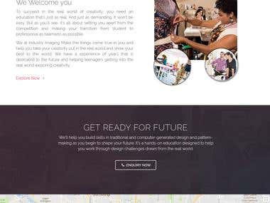 Website for A Fashion Designing classes