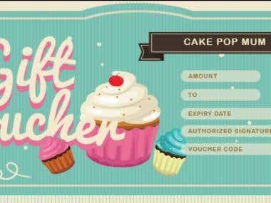Graphic Design- Bakery Gift Voucher