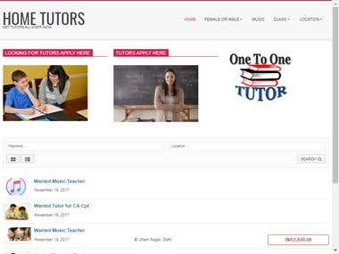 A Classified Website for Home Tutors