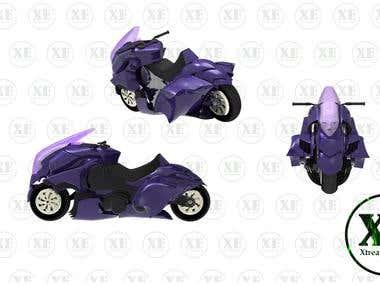 Motorbike 3D modeling