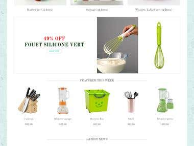 Kitchen store Website