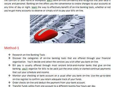 Article About Online Banking