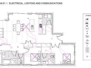 AutoCAD Electrical & Lighting Floor Plan
