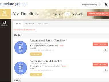 TimelineGenius (Ruby on Rails, Angular)