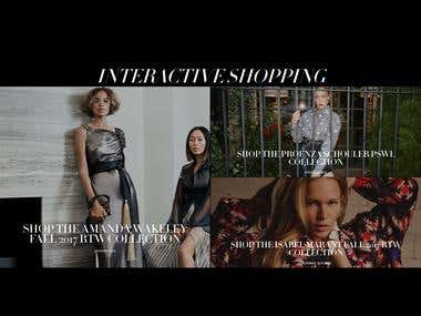 eCommerce website for Fashion collection