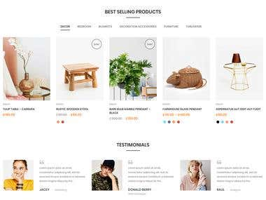 E - commerce WordPress