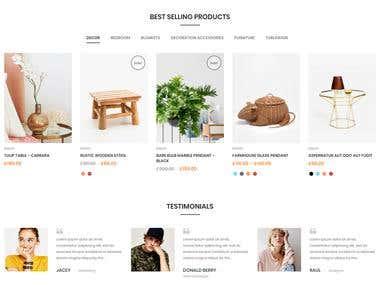 E - commerce WordPress