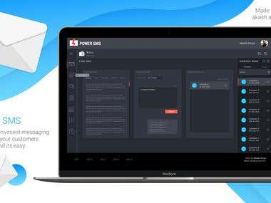 Bulk SMS Sending Business Website Mockup Design