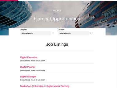 Job Listing website - Integration to Jobvite API