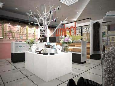 Diseño Interior y Render Local Comercial