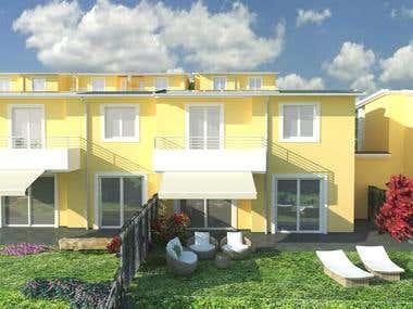 Villas - 3D Model and Rendering
