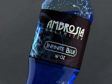 Ambrosia Soda Bottle Concept