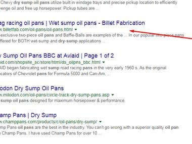 SEO for dry sump oil pans