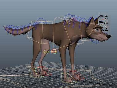 3D ANIMAL RIGGING (DOG)