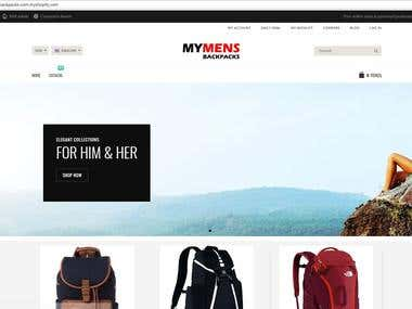 mymensback.com : Shopify website
