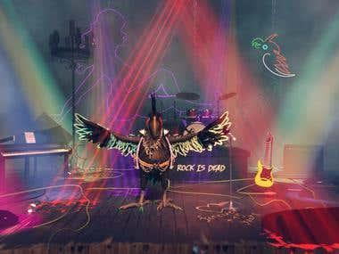 Rock-n-roll Parrot
