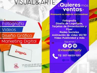 Flyer Visual&Arte - Panama