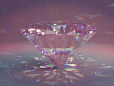 Rose Diamond with caustics and dispersion