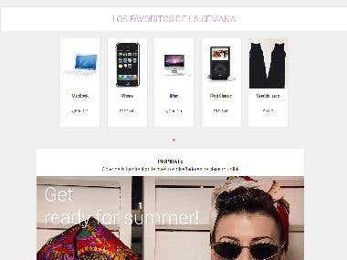 Desarrollo y diseño de tienda en línea
