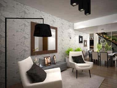 Diseño Interior y Render Vivienda