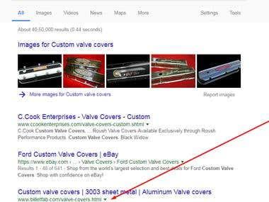 SEO for Custom valve covers