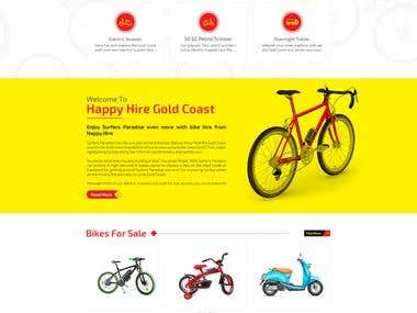 Bike Hire Website Design & Development