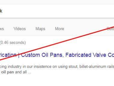 SEO for keyword Custom oil pans