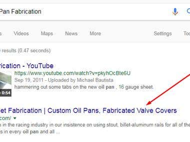 SEO for Custom Oil Pan Fabrication