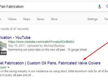 SEO for Custom Oil Pan Fabrication