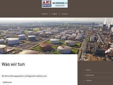 aki-montage.de - a website for company & e-mail solution