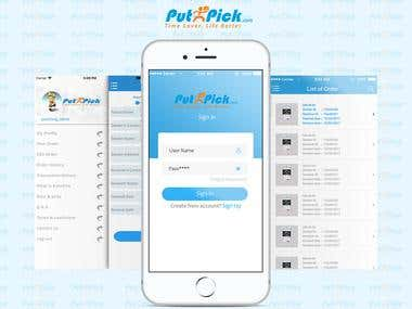 PutnPick mobile applications for android and iphone