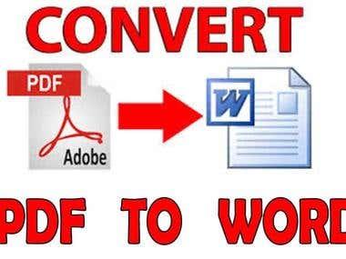 CONVERT PDF TO WORD.