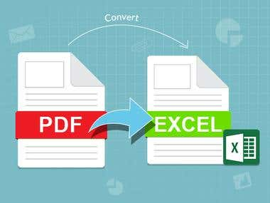 PDF to EXCEL.