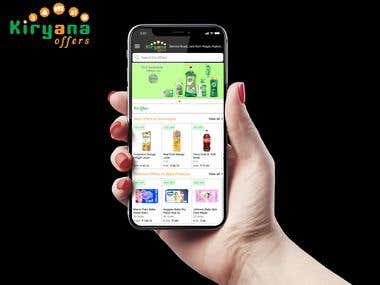 Kiryana Offers mobile apps for android and iphone