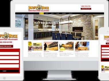 Custom Website Design for Busy-Bee Construction