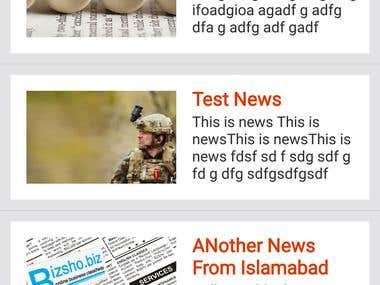 News Website and App
