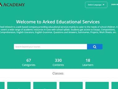 Online Education Responsive Site