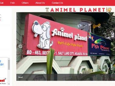 Pet Products Site