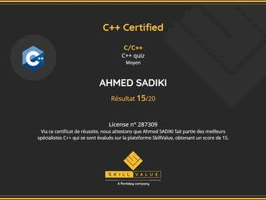 C++ Certified