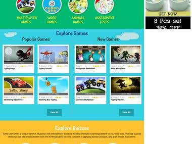 Interactive Kids Learning Portal