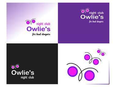"""Logo for """"OWLIE's Night Club"""""""
