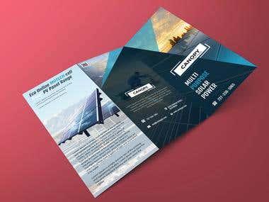 Z-fold / Tri fold Brochure design